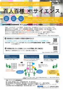 「百人百様×サイエンス」ポスター